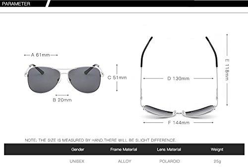 Hombre conducción Piloto de de para Tea de Metal de UV400 Clásico Vestuario Diseñador Sol Gafas Yao Protector Sol Gafas Gafas de polarizadas fHBYqHd