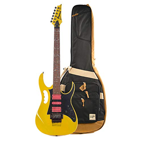 Ibanez JEMJRSP Steve Vai Signature Yellow w/Ibanez Powerpad Premium Gig Bag