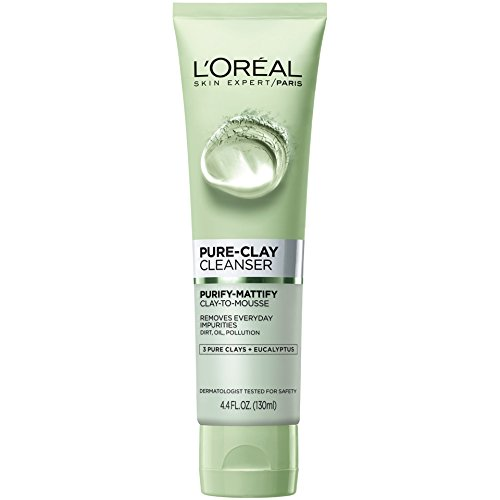 Price comparison product image L'Oreal Paris Skin Care Pure Clay Cleanser, Purify & Mattify, 4.4 Fluid Oun