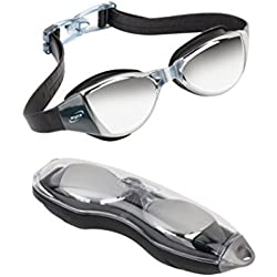 Swim Goggles Men Women Youth Kids Child Anti Fog Swimming Goggle Free Protective Case No Leaking Anti Fog UV Protection