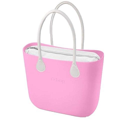 OBAG bolso grande 31x39x14cm Rosa Pink Bolsa interna blanco ...