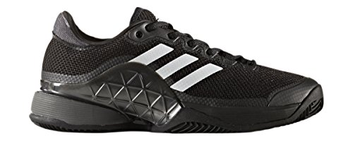 (adidas Men's 2017 Barricade Boost Clay Court Tennis Shoes, Core Black/Night Metallic/White (Size 8.5) )