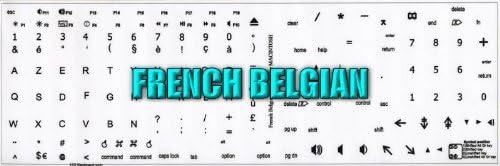 MAC FRENCH BELGIAN KEYBOARD STICKERS WHITE BACKGROUND