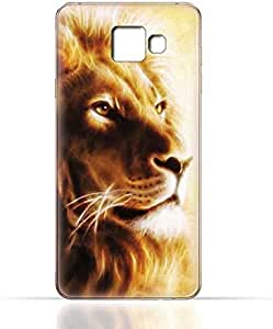 Samsung Galaxy C9 Pro TPU Silicone Case with Lion Portrait Air Brush Pattern