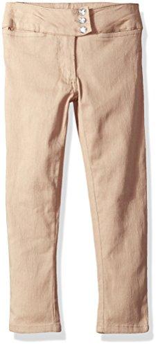 Cherokee Little Girls' Uniform Stretch Twill Skinny Pant, Khaki Stone, (Stretch Twill Skinny Pants)
