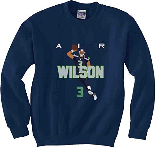 Shedd Shirts Navy Seattle Wilson AIR PIC Crewneck Sweatshirt Adult