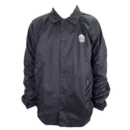 88ababd9c8bc HUF X THRASHER TDS ハフ×スラッシャー Coach jacket コーチジャケット(ブラック) (XL
