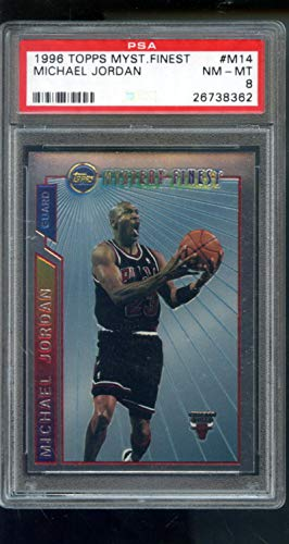 1996-97 Topps Finest Mystery #M14 Michael Jordan Insert NBA NM-MT PSA 8 Graded Basketball Card