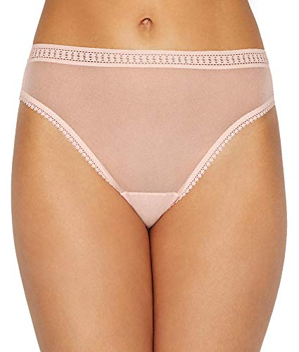 - OnGossamer Gossamer Mesh Hi-Cut Brief, Small, Blush
