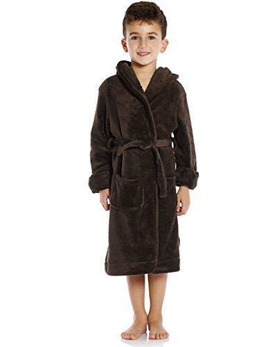 Leveret Kids Fleece Sleep Robe Coffee Size 10 Years]()