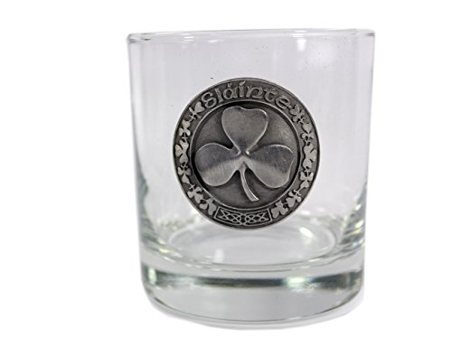 Whiskey Glasses with Pewter Celtic Symbols 4 Set by Robert Emmet Co. (Image #5)