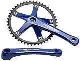 Vuelta Pista Track 46A SQ 144/BCD Crank Set, Blue, 170mm