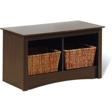 - Monterey Collection Twin Cubbie Storage Bench (Espresso)