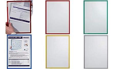 selbstklebend 0.32 mm Franken ITSA4S 12 Dokumentenhalter DIN A4 grau