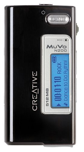 Battery Mp3 Creative Labs (Creative MuVo Micro N200 512 MB MP3 Player Black)