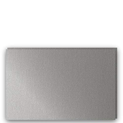 (Shimmer Metallic SD Silver A9-Insert (5-1/2-x-8-1/2) Flat Cards 25-pk - PaperPapers 284 GSM (105lb Cover) Pre-Cut Flat Cards for Tags, Cardmaking, Crafting and More -This is Small Flat Cards only)