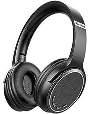 Cascos Bluetooth Inalámbrico, Macrout Auriculares de Diadema Portatiles con Micrófono, FM Radio Manos Libres y TF Tarjeta Almohadillas Suaves para iPad, iPhone, Móviles Android