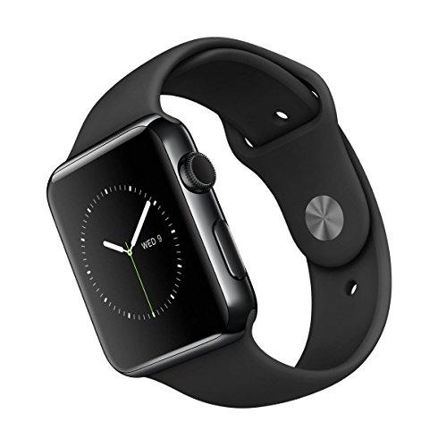 Apple Watch 42 mm - Smartwatch iOS  caja de acero inoxidable en negro espacial (pantalla 1.65