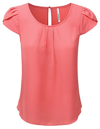 coral tops for women - 7