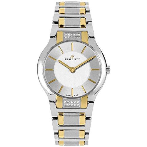 Pierre Petit Women's P-799J Serie Laval Two-Tone Stainless-Steel Diamond Watch Petite Diamond Ladies Watch