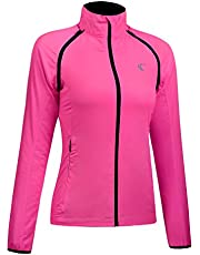 Shelcup Women's Windproof Water Resistant Convertible Cycling Running Jacket