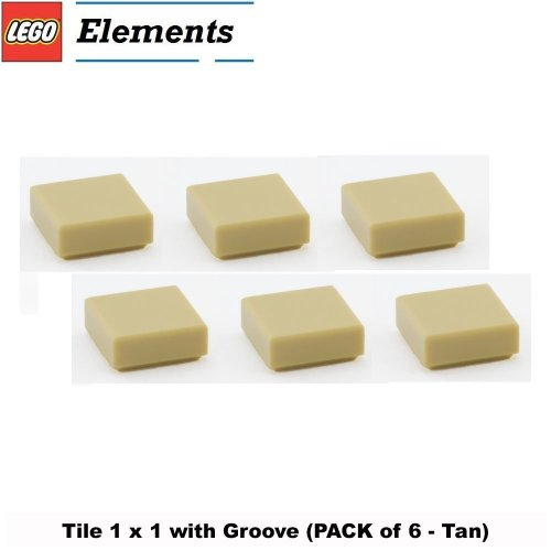 Lego Building House Ultimate (Lego Parts: Tile 1 x 1 with Groove (PACK of 6 - Tan))