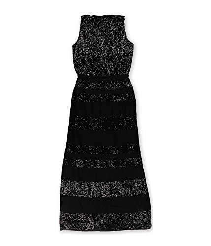 Ralph Lauren Womens Sequin Gown Dress, Black, 8