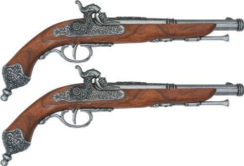 (Denix Colonial 1865 Italian Percussion Dueling Non Firing Replica Flintlock Gun Set)