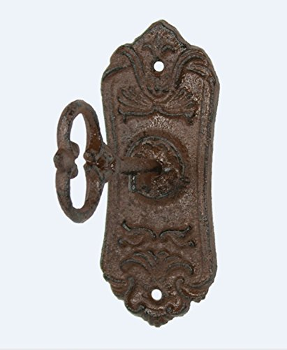 Upper Deck UX1005 Skeleton Key Cast Iron Coat Wall Hook and Key Rack