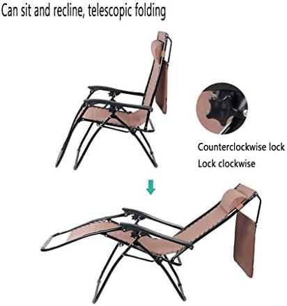 BD.Y Fauteuils inclinables inclinables inclinables, Chaise de Plage Zero Gravity, Chaise Longue Pliable et réglable, avec Un Toit Pare-Soleil pour Le Patio extérieur