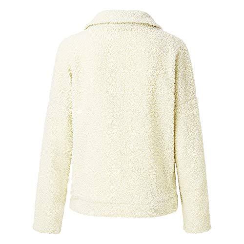 Blanc Coton La Zippé Blouson Cher vestes Manteau Pas Sweatshirt Coat À Chaud Fourrure Cachemire Ample Mode Fausse Hiver En Femme Pn1zqw4Hq