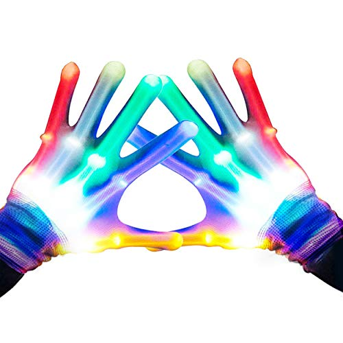 Gifts for Teen Girls, TOPTOY Flashing LED Gloves Gift Ideas for Teen Boys Girls Autism Cool Toys for 3-12 Years Old Boys Girls