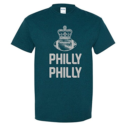 UGP Campus Apparel Philly Philly Crown - Philadelphia Football Dilly Dilly Bowl Party T Shirt - Large - Midnight