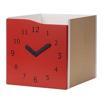 Zigzag Trading Ltd IKEA Kallax - Introducir con la Puerta roja de la Navidad/Reloj: Amazon.es: Hogar