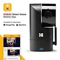 KODAK Cherish F685 Video Security Camera - Tilt/Pan/Zoom Infrared HD Camera, 120-degree View, Rechargeable Batteries and WiFi Mobile App