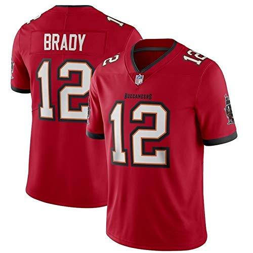 Xyy NFL Jersey Patriots 12# Tom Brady Camiseta de fútbol Americano para Hombre (Color : Red, Size : M)