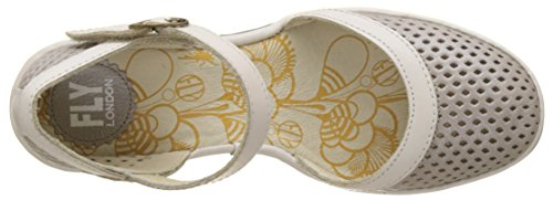 silver Cerrada Fly Tacón London Punta Plateado Mujer Con offwhite De Zapatos Para Yupi840fly qqP0wTR
