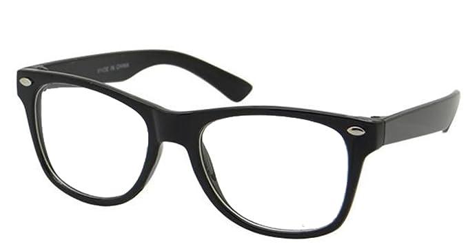 1f817564f5 Kids Nerd Glasses Clear Lens Geek Costume Black Frame Children s (Age ...