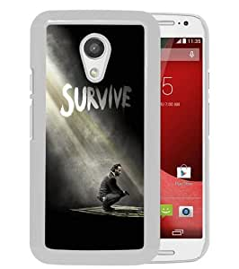 Hot Sale Motorola Moto G 2nd Generation Case ,The Walking Dead Season 5 Survive Rick White Motorola Moto G 2nd Cover Unique And High Quality Designed Phone Case
