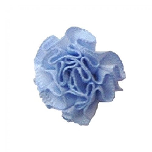 Berisford Ribbon Ruched Rosettes 307 Bluebell - per pack of 6