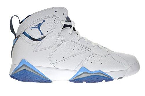 Jordan Air 7 Retro French Blue Men's Shoes White/Frech Blue-University Blue-Flint Grey 304775-107 (11 D(M) US) (Jordan French Blue 7)