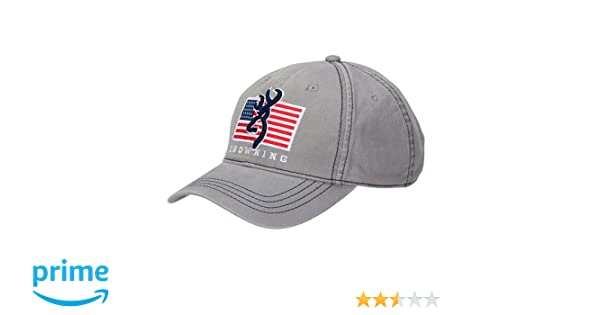 timeless design 8d1eb 3b54f Amazon.com  Browning 308013691 Pride Cap, Gray  Sports   Outdoors