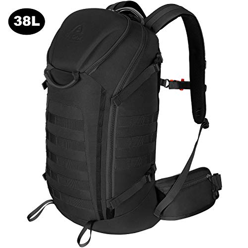 - Aione Military Backpack,Tactical Backpack Army Assault Pack Molle Hydration System Rucksacks Bug Out Backpack with Hard Shell Top Pocket for Traveling,Camping,Trekking,Hiking 25L/38L