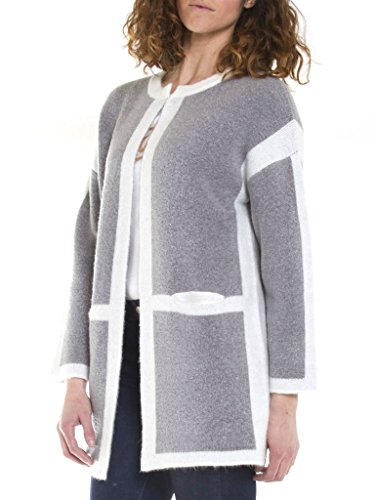 457 Tissu Manche Femme Taille Extensible Normale Pardessus Gris 831 Bicolore Carrera Jeans Longue Pour Manteau 0wHHqE
