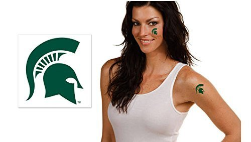 Michigan State University Spartans Temporary Tattoos ()