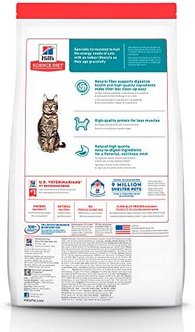 Hill's Science Diet, Alimento para Gato Adulto 7+ años Indoor, Seco 3