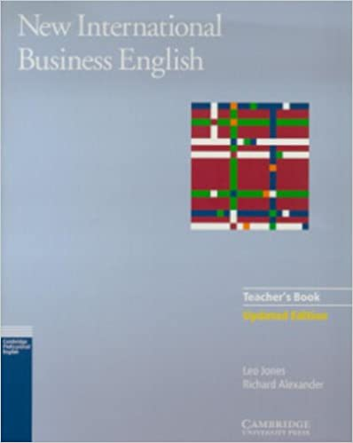 english business students book new international