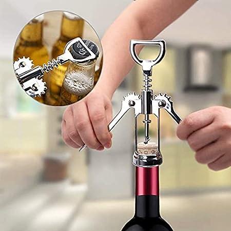 XHJL Sacacorchos abridor de Vino abridor de Botellas Multifuncional Conejo removedor de Corcho de aleación de Zinc para Vino Cerveza-Seguro diseño Alado ergonómico-Elegante Mejor Juego de Regalo