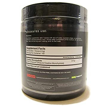 HPN C 2 Ultrapure Premium Creapure Creatine 100 Servings Monohydrate High Performance Nutrition Dietary Supplement