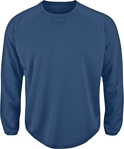 Majestic Pullover - Majestic Youth Home Plate Tech Fleece Navy Large